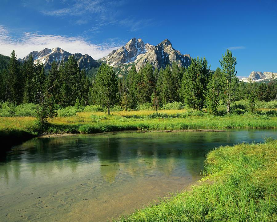 Sawtooth Mountain Range, Idaho Photograph by Ron thomas