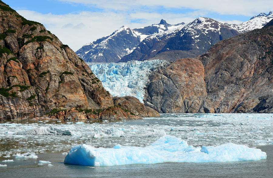 Sawyer Glacier in Tracy Arm Fjord by Carla Parris