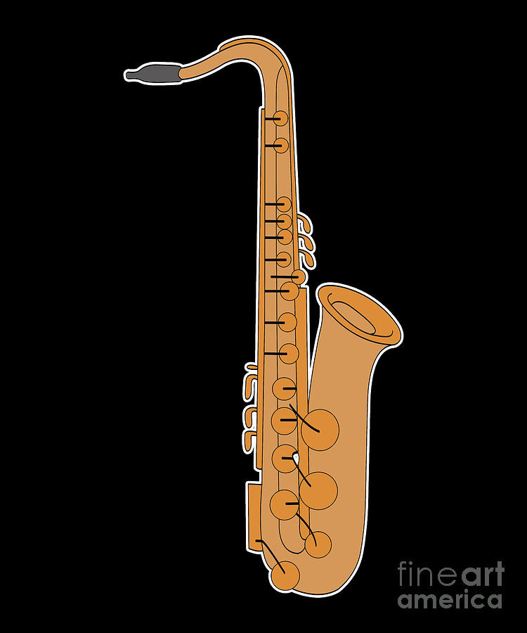Saxophone Brass Instrument Jazz Band Musician Gift