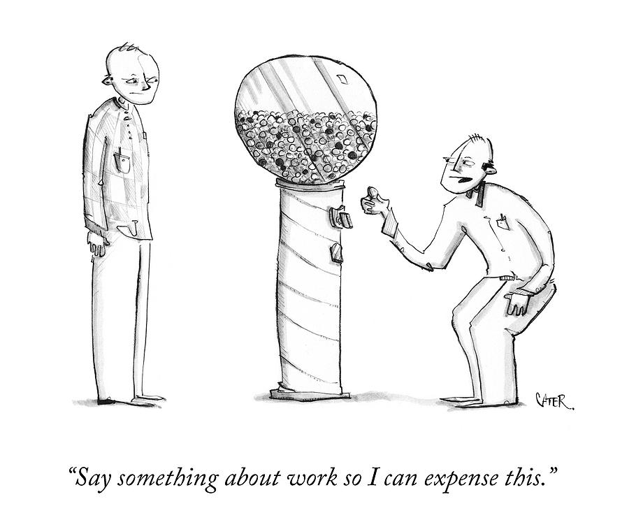 Say Something About Work Drawing by Chris Carter