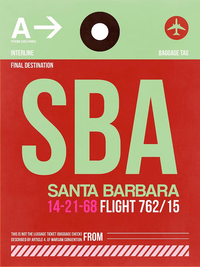 European Cities Photograph - Sba Santa Barbara Luggage Tag II by Naxart Studio