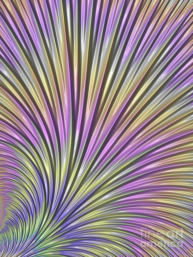 Blue Digital Art - Scallop by John Edwards
