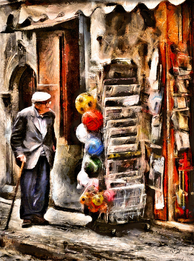 Italy Digital Art - Scanno, Strada Abrami by Andreas Theis