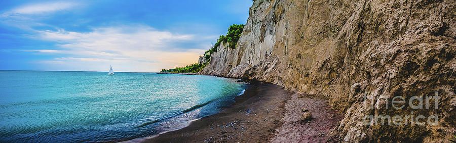 Scarborough Bluffs Landscape Panoramic Photograph V by Stephen Geisel