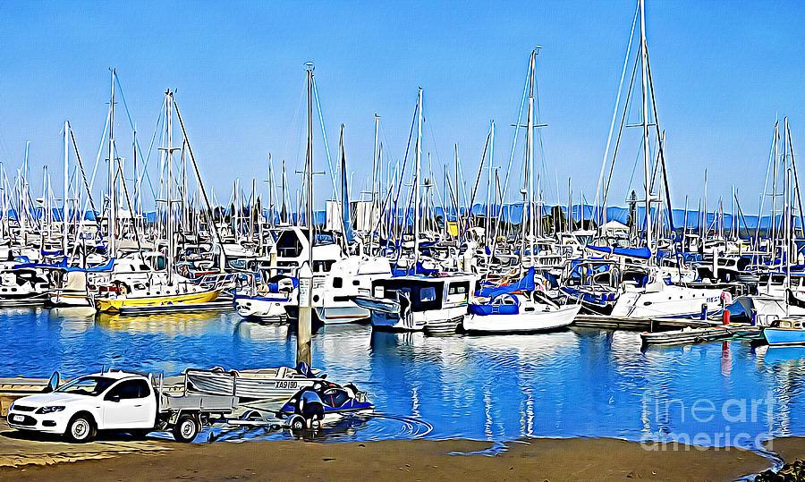 Scarborough Marina by Trudee Hunter