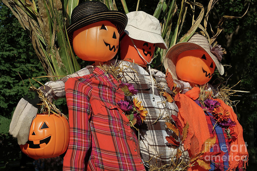 Scarecrow Family Portrait Photograph