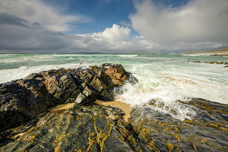 Beach Mixed Media - Scarista, Isle Of Harris by Smart Aviation