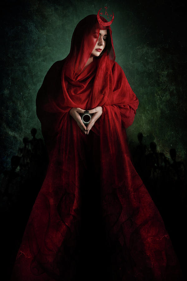 Lilith Digital Art - Scarlet by Cambion Art