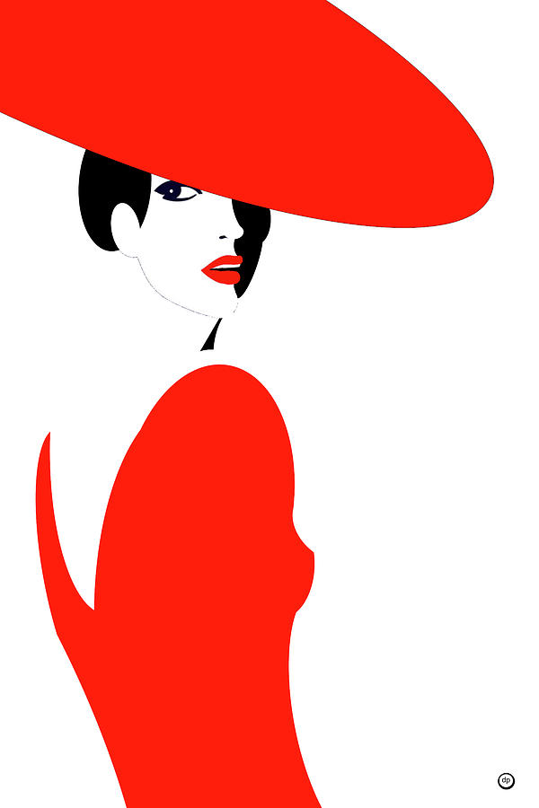 Lady in Red by Digital Painting
