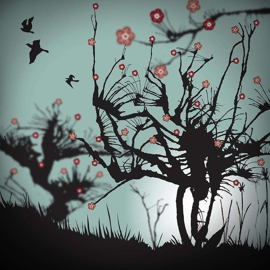 Scary Blooms Digital Art by Bodhi Hill