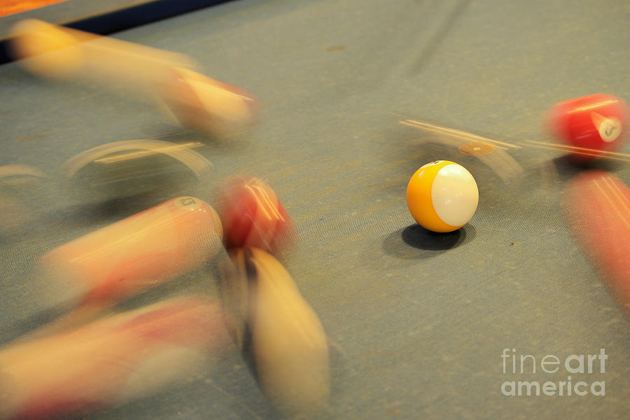 Scattering Pool Balls Photograph