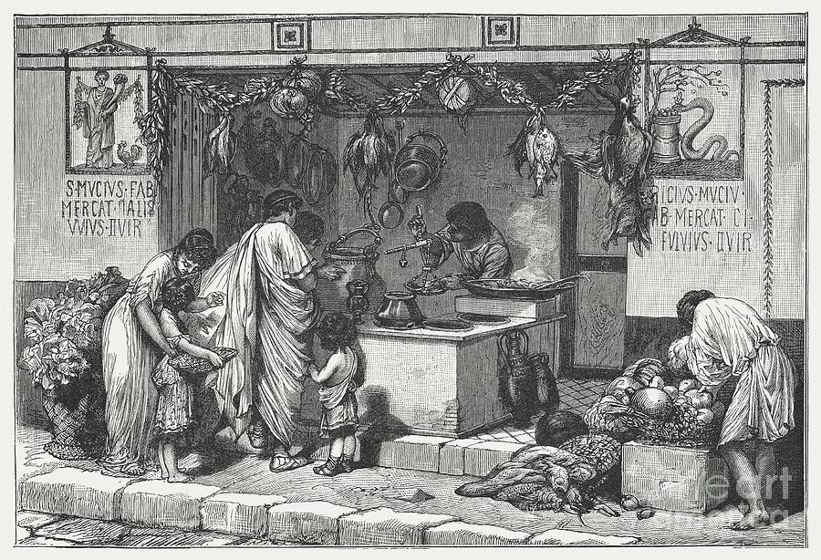Scene From Ancient Rome Delicatessen Digital Art by Zu 09