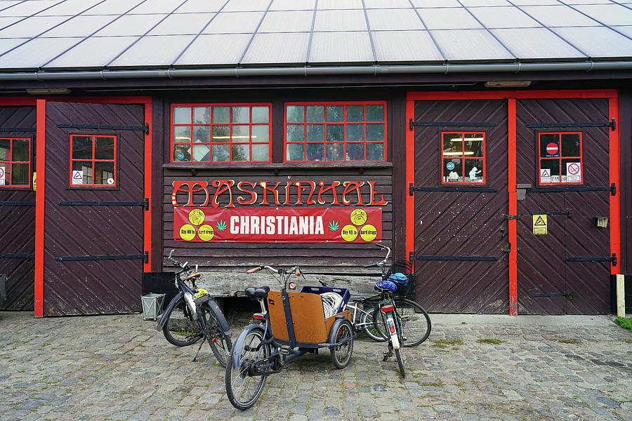 Scene From Freetown Christiania In Copenhagen Denmark by Richard Rosenshein