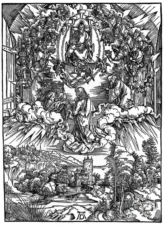 Scene From The Apocalypse, St John Drawing by Print Collector