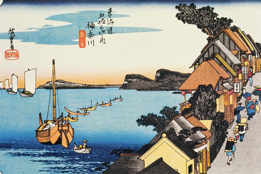 Scenery Of Kanagawa In Edo Period Digital Art by Daj