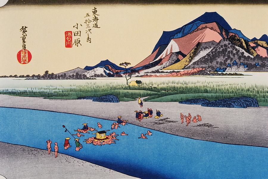 Scenery Of Odawara In Edo Period Digital Art by Daj