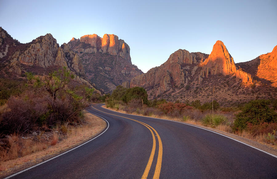 Scenic Mountain Road In Texas Near Big Photograph by Denistangneyjr