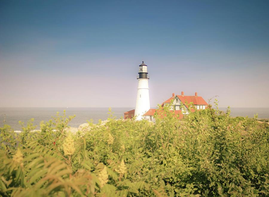 Scenic Portland Headlight Lighthouse  by Debra Forand