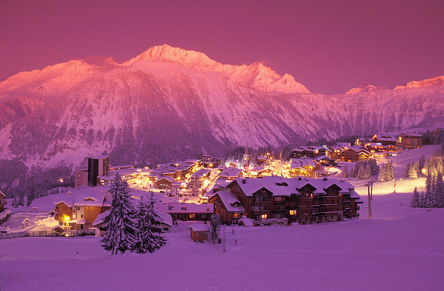 Scenic Ski Resort Town In Winter At Photograph by Anger O.