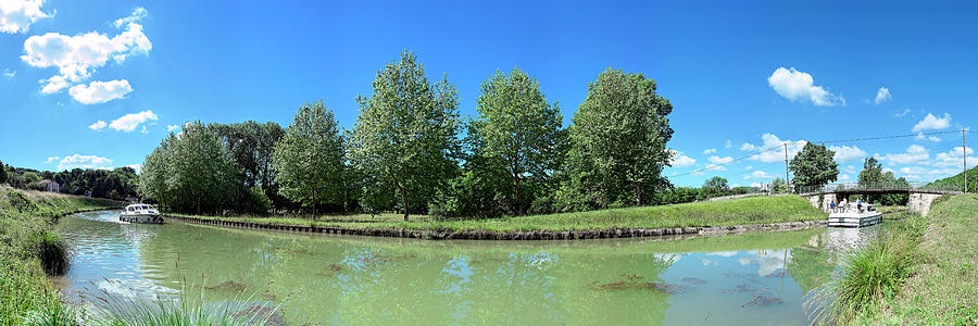 Horizontal Photograph - Scenic View Of Burgundy Canal by Panoramic Images