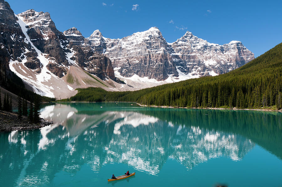 Scenic View Of Moraine Lake On A Summer Photograph by Ginevre