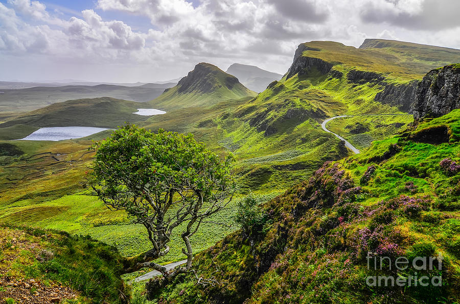 Cliffs Photograph - Scenic View Of Quiraing Mountains by Martin M303