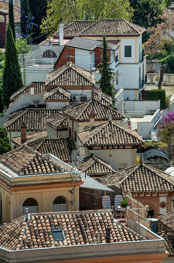 Scenic View Of Rooftops Albaicin Photograph by Izzet Keribar