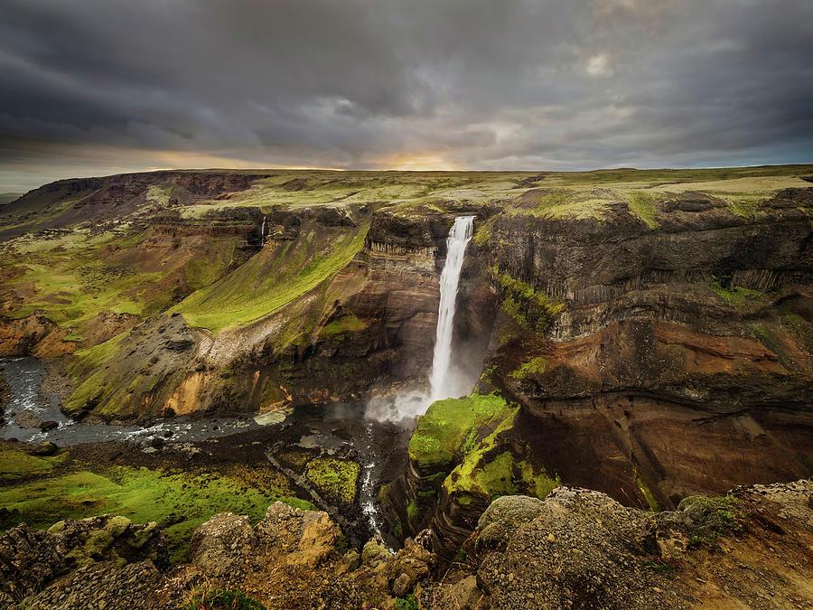 Scenic waterfalls-Iceland by Usha Peddamatham