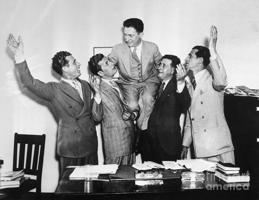 Schecter Brothers Celebrating Court Photograph by Bettmann