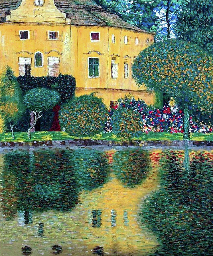 Schloss Kammer On The Attersee Painting By Gustav Klimt
