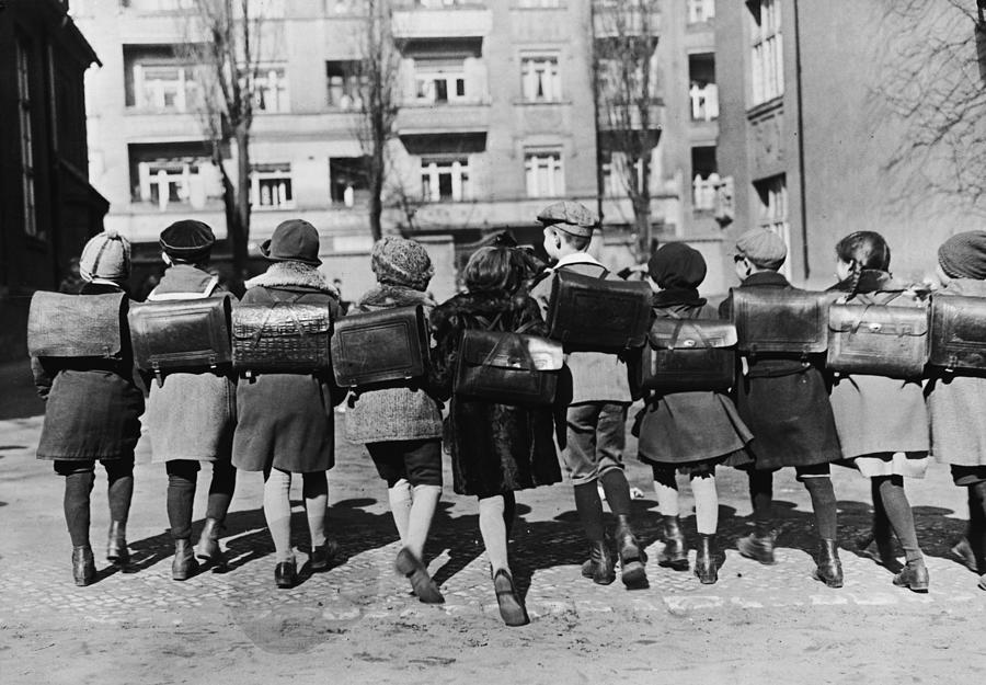 School Children Photograph by Topical Press Agency