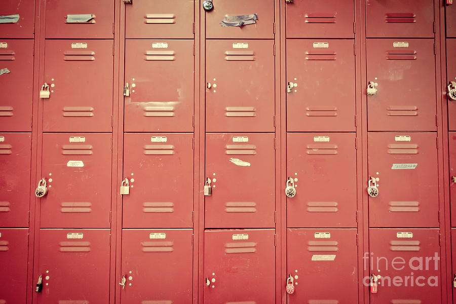 Storage Photograph - School Lockers by Edward Fielding