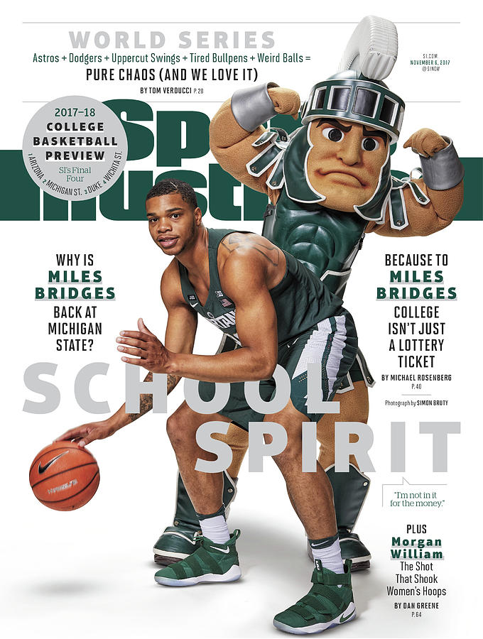 School Spirit 2017-18 College Basketball Preview Issue Sports Illustrated Cover Photograph by Sports Illustrated