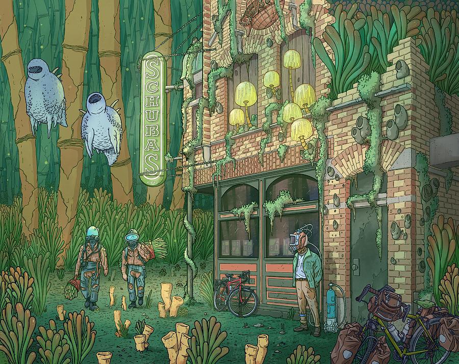 Schubas Tied House Digital Art by EvanArt - Evan Miller
