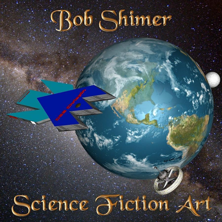 Scifi Digital Art - SciFi Art by Bob Shimer