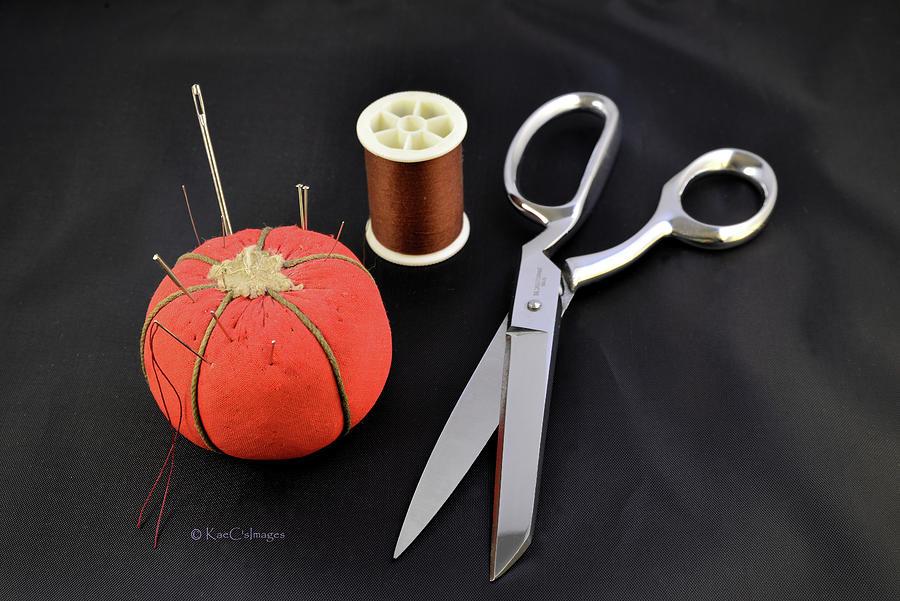 Scissors Thread Pincushion by Kae Cheatham