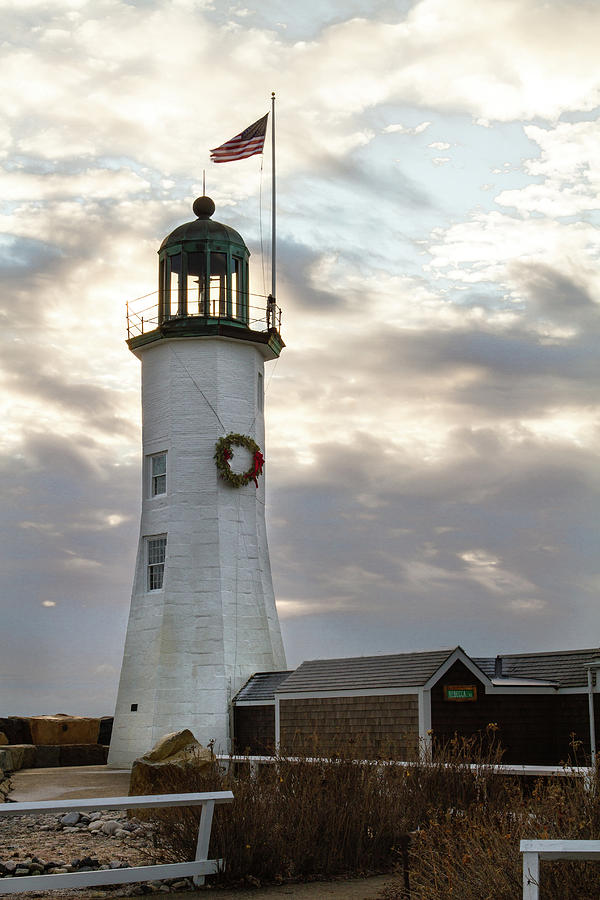 Scituate Light Morning by Steven David Roberts