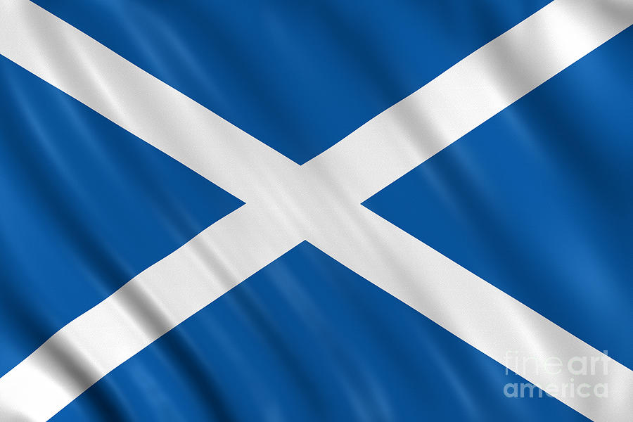 Scotland Flag Photograph by Visual7