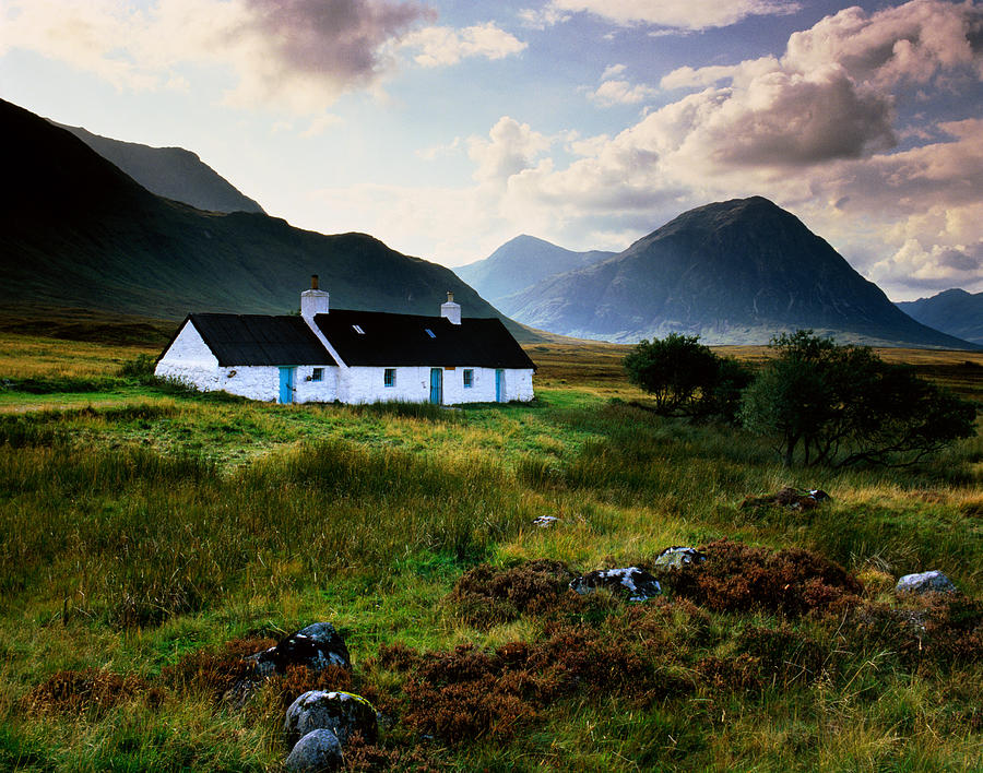 Scotland,glencoe,black Rock Cottage Photograph by Charlie Waite