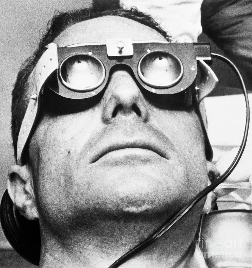 Scott Carpenter Wearing Eye Goggles Photograph by Bettmann