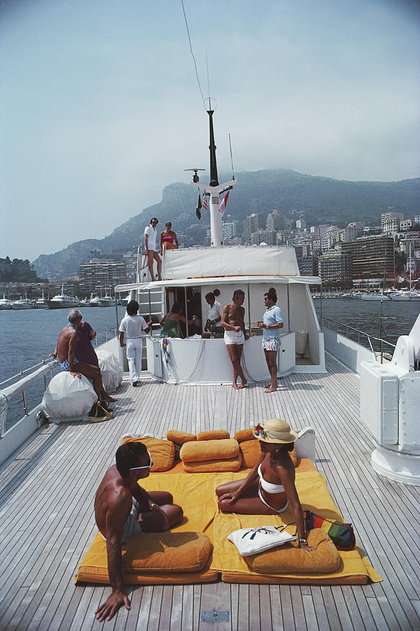 1980-1989 Photograph - Scottis Yacht by Slim Aarons