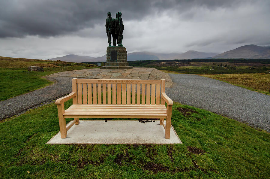Spean Bridge Mixed Media - Scottish Commando Monument by Smart Aviation