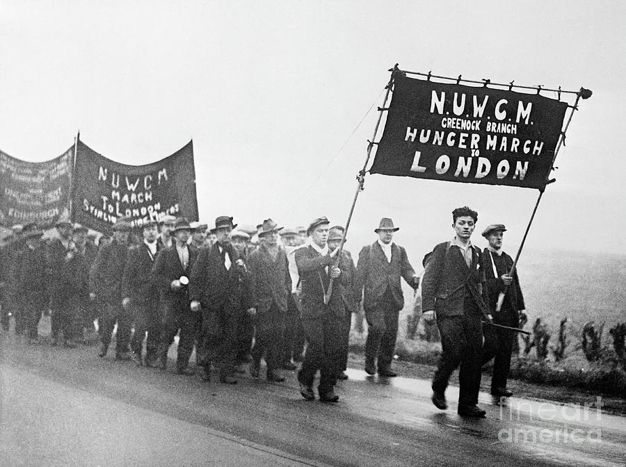 Scottish Miners In Hunger March Photograph by Bettmann