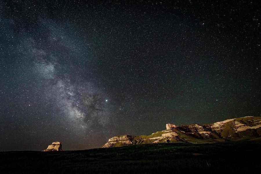 Scotts Bluff Milky Way by John Wilkinson
