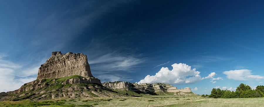 Scottsbluff National Monument in Nebraska Panorama by Art Whitton
