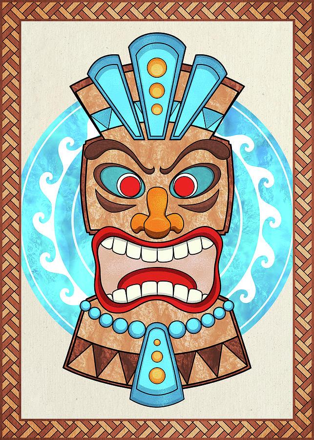 Screaming Tiki Head by Debi Dalio