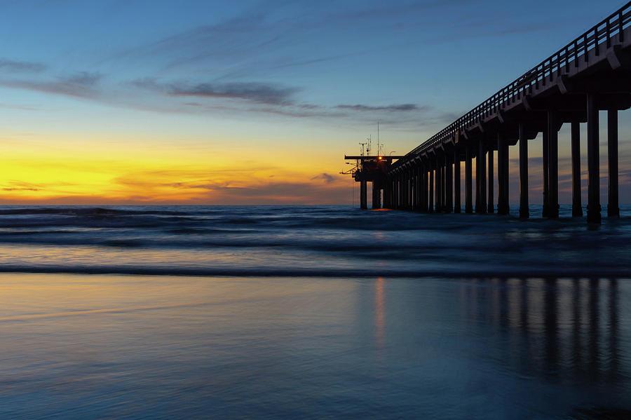 Scripps Pier Sunset by Richard A Brown