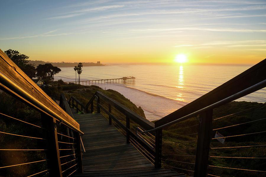 Scripps Sunset Stairway 1 by Richard A Brown