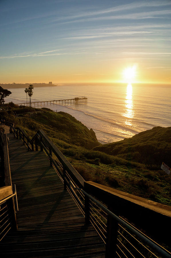 Scripps Sunset Stairway 5 by Richard A Brown