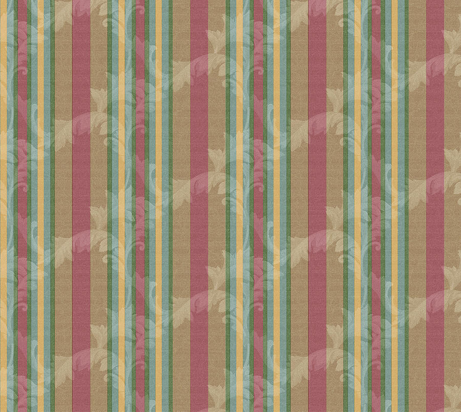 Pattern Digital Art - Scroll Stripe Cinnamon by Bill Jackson